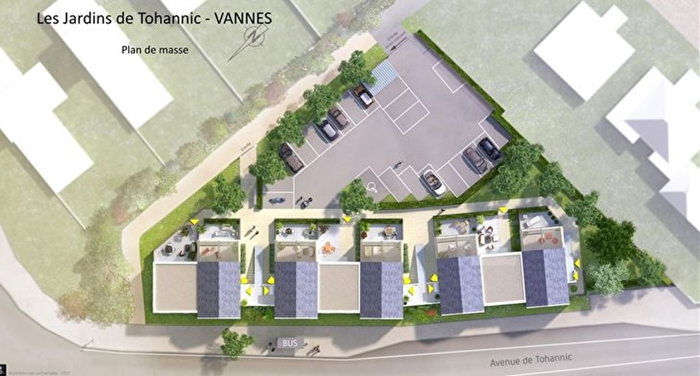 Loi Pinel - Appartement T3  Neuf - Vannes - 62.20 m2